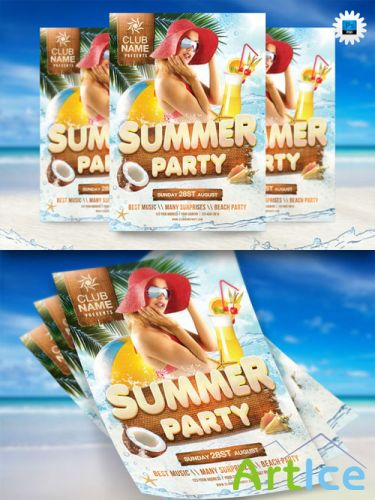 CreativeMarket - Summer Party Flyer Template