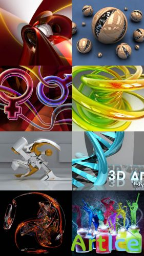 Wallpaper Collection of 3D Graphics Set 1