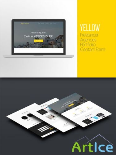 CreativeMarket - Yellow One-Page Website - PSD Template