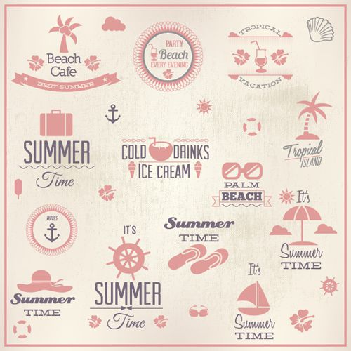 Vacation Emblems Vector Set