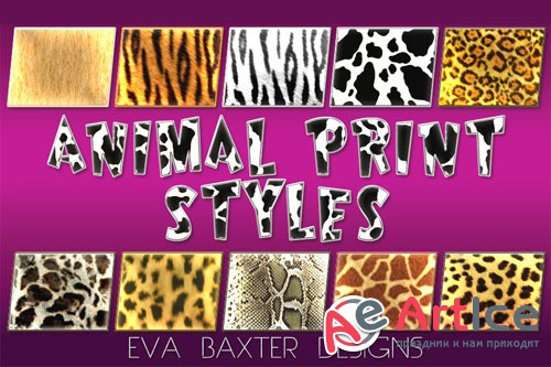 Animal Print Photoshop Styles