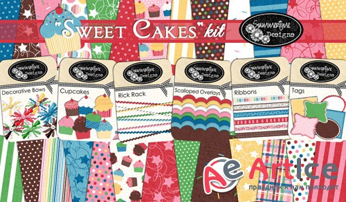 Scrap - Sweet Cakes PNG and JPG