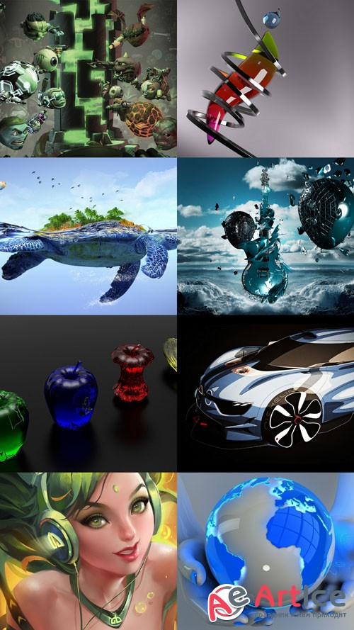 Wallpaper Collection of 3D Graphics Set 6