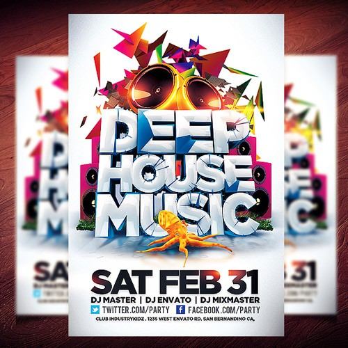 Flyer PSD - House Music