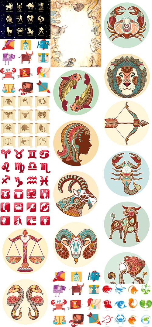 Horoscope Signs Vector Set