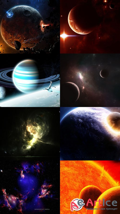 Space Wallpapers Set 23 JPG Files