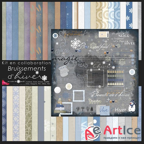 Scrap - Bruissements d'Hiver PNG and JPG