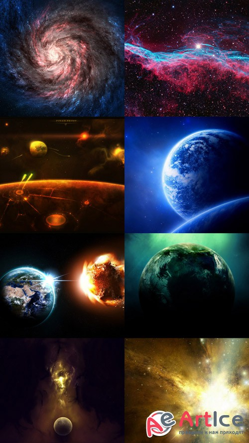 Space Wallpapers Set 24 JPG Files
