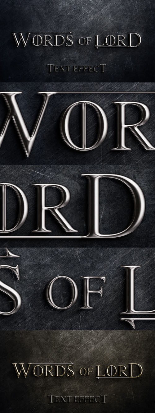 Text Effect PSD - Words of Lord