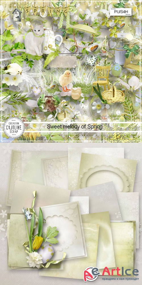 Scrap - Sweet Melody of Spring PNG and JPG