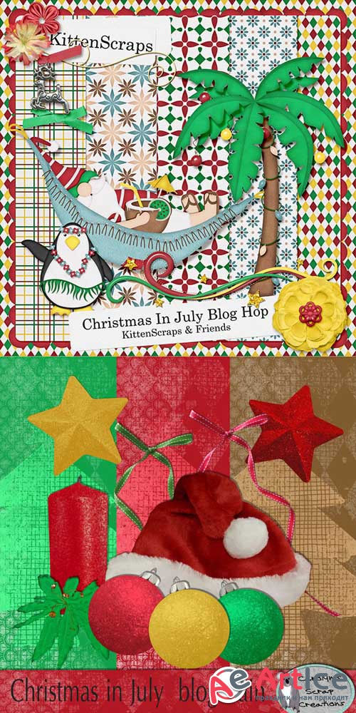 Scrap - Christmas In july PNG and JPG
