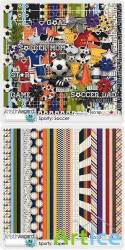 Scrap - Sporty Soccer PNG and JPG
