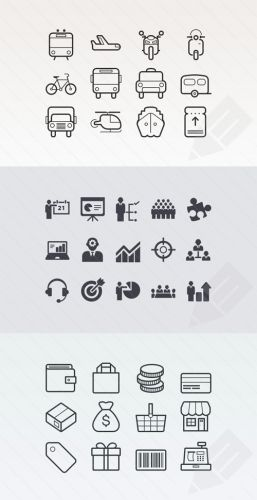 Vector Icon Sets - Business and Ecommerce