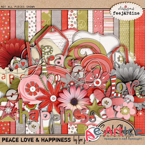 Scrap - Peace, Love & Happiness PNG and JPG