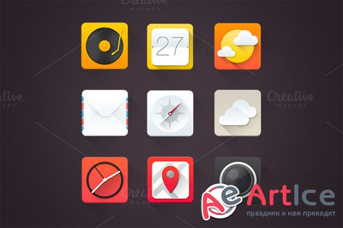 CreativeMarket - High Quality Icons Set