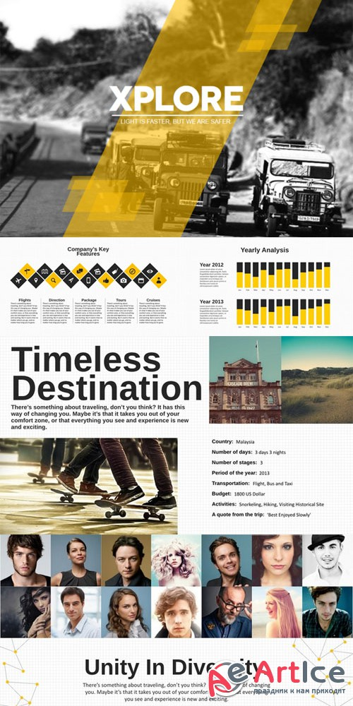 CreativeMarket - Xplore Magazine Keynote Template