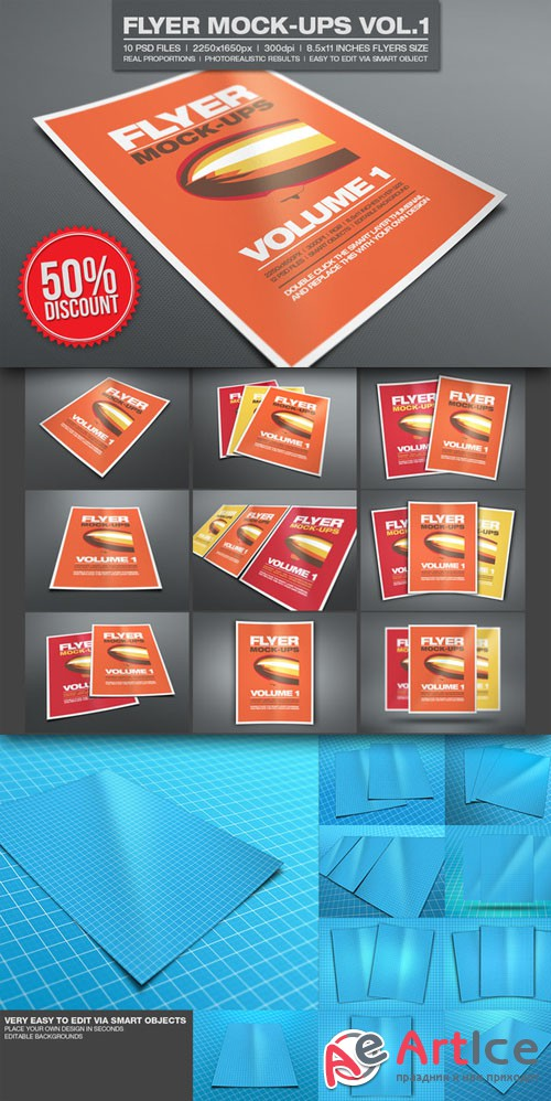 CreativeMarket - Flyer Mock-ups Vol.1