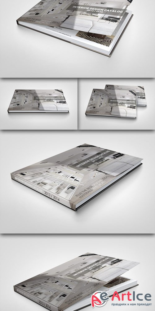 CreativeMarket - Landscape Book Mock-Up