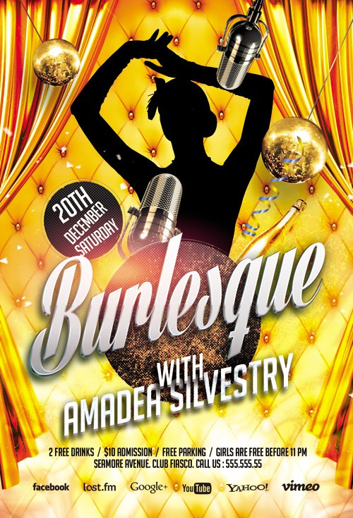 Flyer Template - Burlesque Party