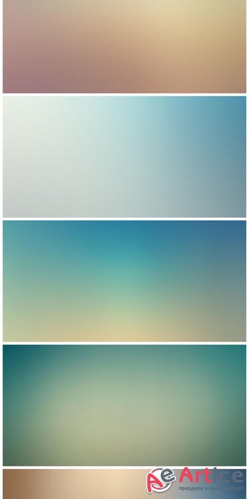 7 Colored Blurred Backgrounds Vol.1