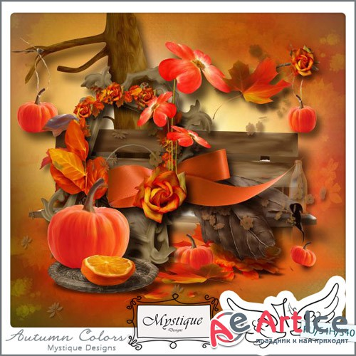 Scrap - Autumn Colors PNG and JPG