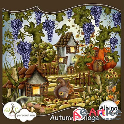 Scrap - Autumn Village PNG and JPG