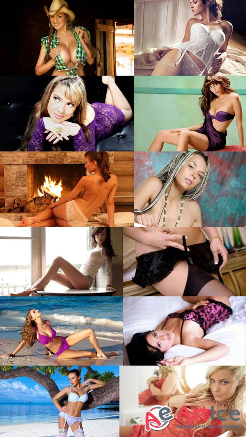 Wallpapers Beautiful Girls in Different Poses Set 11