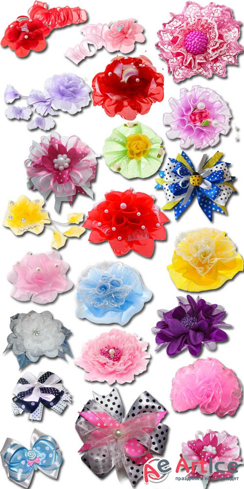 Bows for Girls on a Transparent Background PNG Files