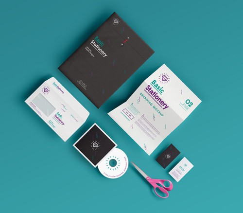 Basic Stationery Mockup Template Vol 02