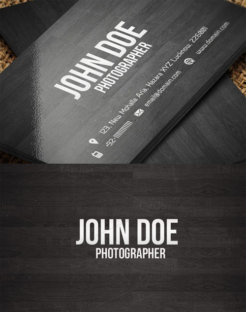 Creative Wooden Business Card Template