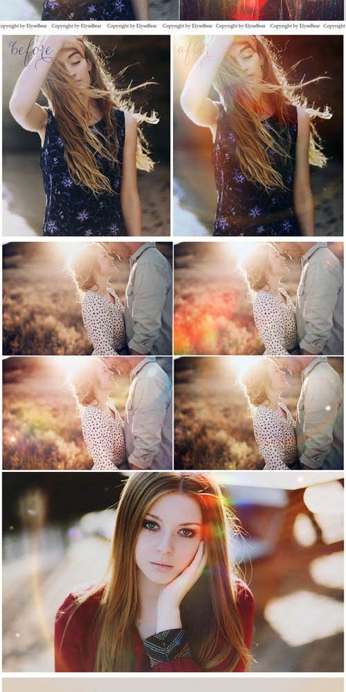 30 Lens Flare Overlays JPEG and PNG