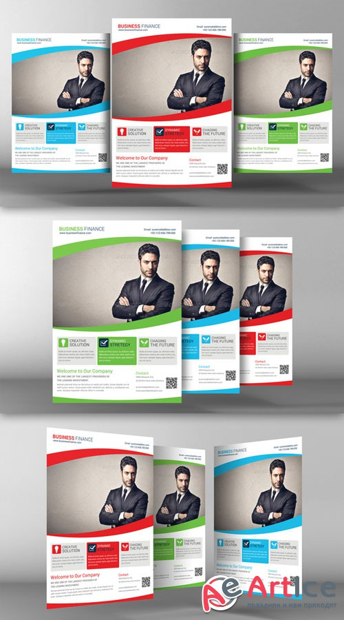 Corporate Business Flyer Template - CM 95636