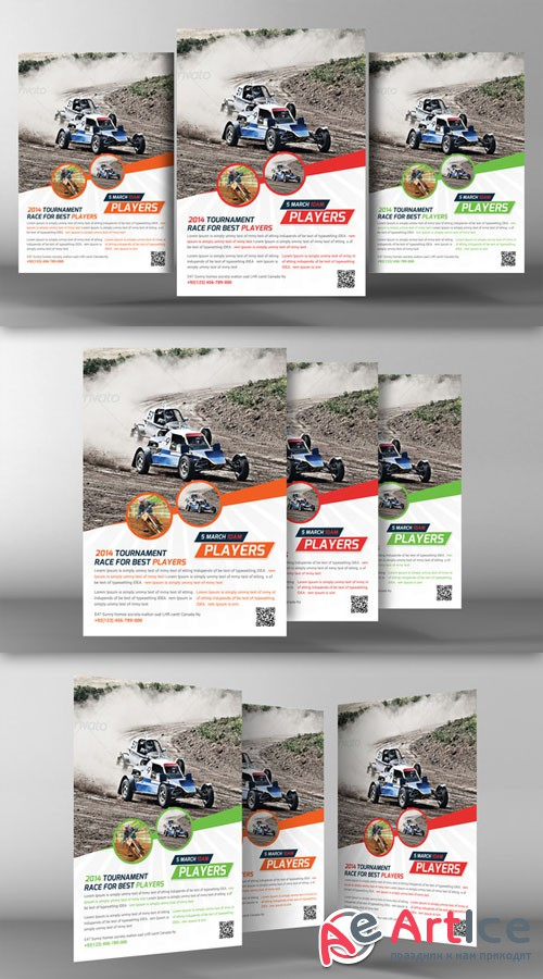 Racing School Flyer Template - CM 94095
