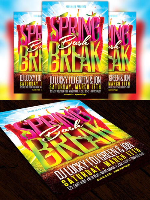 Spring Break Bash Flyer Template