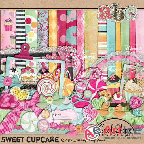 Scrap - Sweet Cupcake JPG and PNG