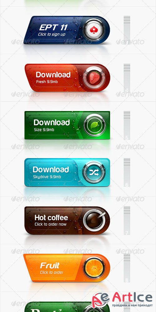 GraphicRiver Brand Buttons 4443375