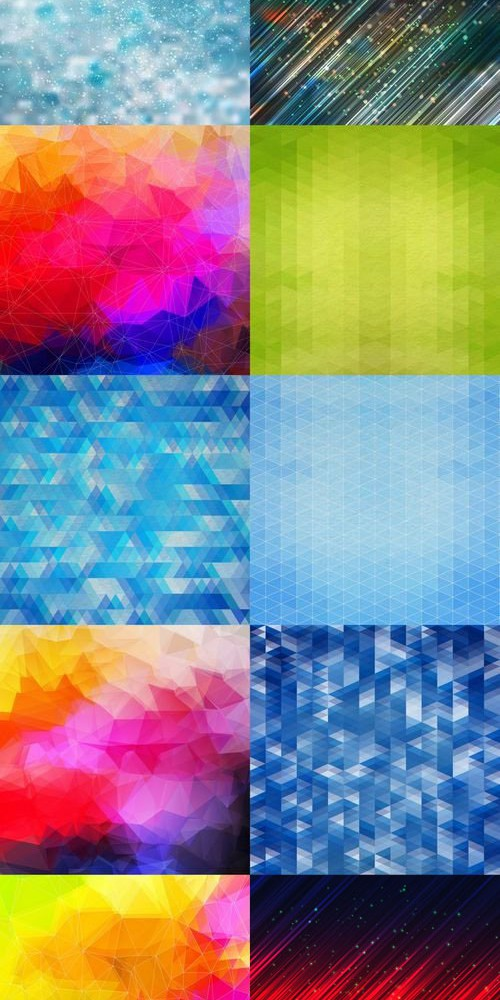 10 Abstract Backgrounds Vector Set