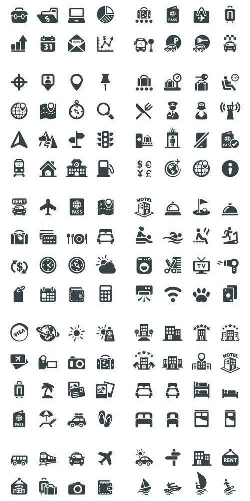 Travel and Airport Vector Icons