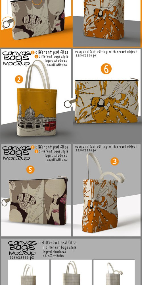 Canvas Bags Mock Ups