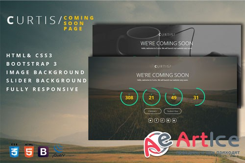 Curtis - Coming Soon Page - Creativemarket 202745
