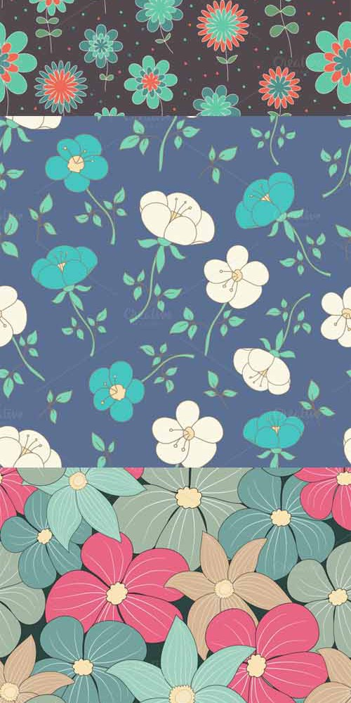 Vector Floral Pattern Set 1