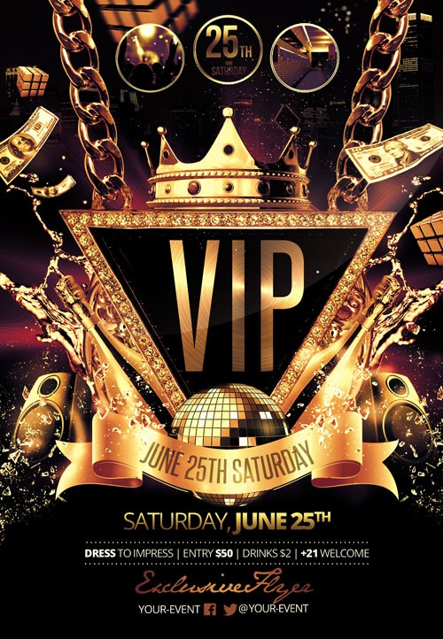 Flyer Template - VIP Party Facebook Cover