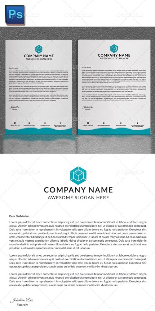 Letter Head PSD