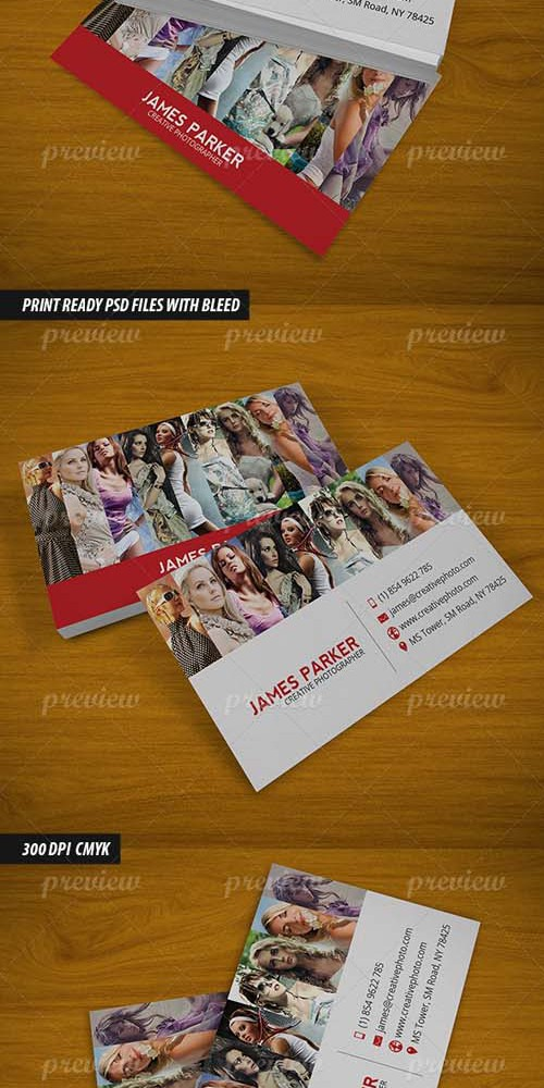 Creative Photographer Business Card PSD