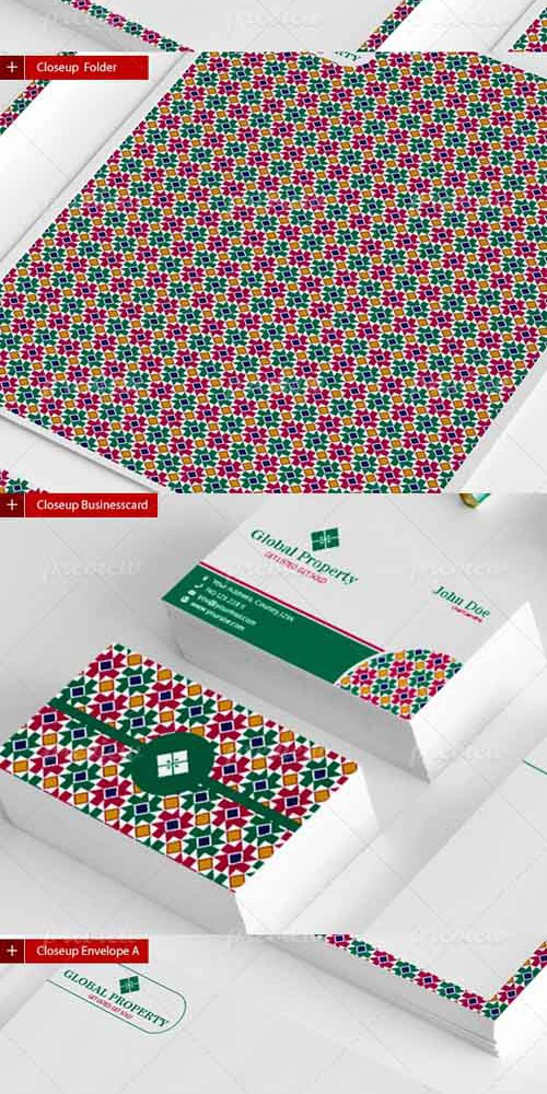 Vector Global Property Stationery Template