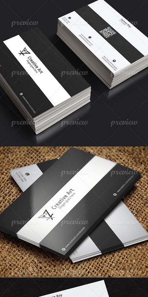 PSD Template - Black & White Business Card