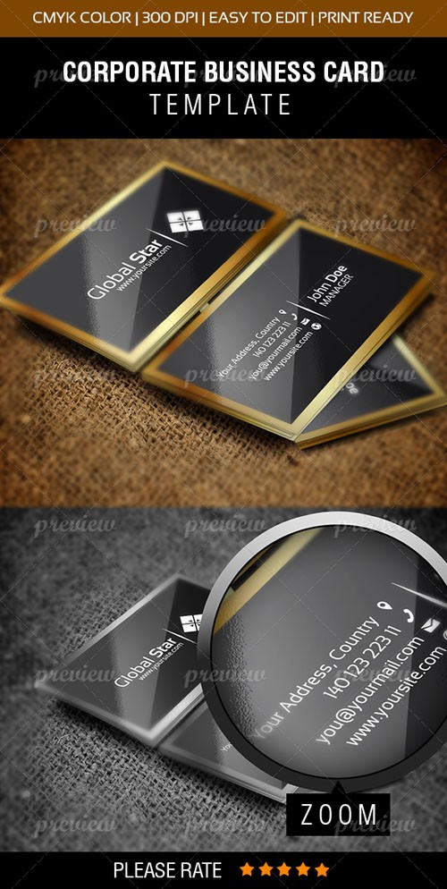 Vector Latest Template Business Card