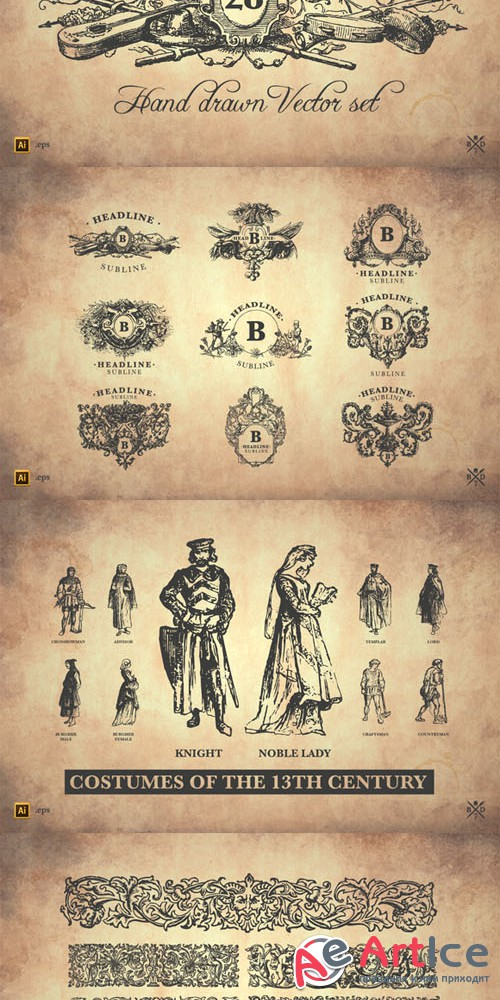 28 Historical Graphics - Creativemarket 85359