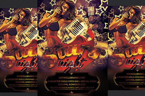 Flyer PSD - Stars Night Party