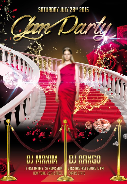Flyer Template - Glam Party 2 Facebook Cover